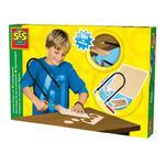 SES Creative - zabawki kreatywne, zabawki plastyczne, zestawy do malowania i modelowania, zabawki edukacyjne - Zestaw stolarski do wycinania kształtów - 14940 w sklepie internetowym Educco.pl