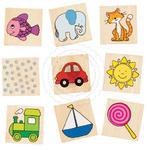 GOKI - Memo - kolorowe obrazki - zabawki drewniane - 56873 w sklepie internetowym Educco.pl