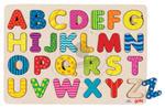 GOKI - Puzzle - Kolorowy alfabet - zabawki drewniane - 57672 w sklepie internetowym Educco.pl