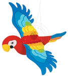 GOKI - Papuga z ruchomymi skrzydełkami - zabawki drewniane - GK454 w sklepie internetowym Educco.pl