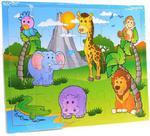 Puzzle drewniane Zwierzęta Safari Smily w sklepie internetowym Mazakzabawki.pl