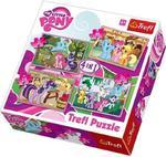 Puzzle 4w1 Wakacje Kucyków Little Pony Trefl w sklepie internetowym Mazakzabawki.pl