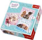 Puzzle 3w1 Sweet Lovely- Słodkie kotki TREFL w sklepie internetowym Mazakzabawki.pl