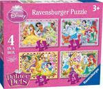 Puzzle 4w1 Palace Pets Disney Ravensburger w sklepie internetowym Mazakzabawki.pl