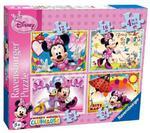 Puzzle Myszka Minnie 4w1 Disney Ravensburger w sklepie internetowym Mazakzabawki.pl