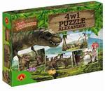 Puzzle 4w1 Era Dinozaurów Alexander w sklepie internetowym Mazakzabawki.pl