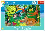 Puzzle Ramkowe 15 el Las tropikalny TREFL w sklepie internetowym Mazakzabawki.pl