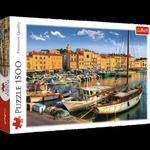 Puzzle 1500el Stary Port w Saint Tropez Trefl w sklepie internetowym Mazakzabawki.pl