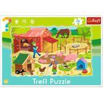 Puzzle Ramkowe 15 el Farma TREFL 31216 w sklepie internetowym Mazakzabawki.pl