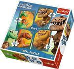 Puzzle Dobry Dinozaur 4w1 34250 Trefl w sklepie internetowym Mazakzabawki.pl