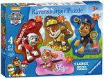 Puzzle 4w1 Psi Patrol kształty Ravensburger w sklepie internetowym Mazakzabawki.pl