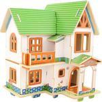 Puzzle 3D Drewniane Europejski dom F402S w sklepie internetowym Mazakzabawki.pl