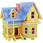 Puzzle 3D Drewniane Latający Dom F403S w sklepie internetowym Mazakzabawki.pl