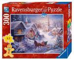 Puzzle 300 el. Pędząc przez śnieg Ravensburger w sklepie internetowym Mazakzabawki.pl