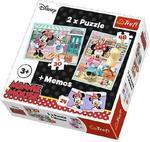 Puzzle 2w1 + memos Hobby Minnie Trefl 90605 w sklepie internetowym Mazakzabawki.pl