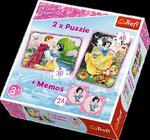 Puzzle 2w1 + memos Zakochana Śnieżka Trefl w sklepie internetowym Mazakzabawki.pl