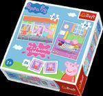 Puzzle 2w1 + memos Dzień Peppy Trefl w sklepie internetowym Mazakzabawki.pl