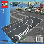 Płytka Skrzyżowanie i zakręt LEGO CITY 7281 w sklepie internetowym Mazakzabawki.pl