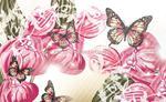 Fototapeta na flizelinie 556VE Motyle na różowym tle w sklepie internetowym KrainaBarw.pl