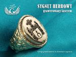 Usługa grawerowania herbów na sygnetach - sygnety herbowe - SY014 w sklepie internetowym Grawernia.pl