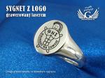 Usługa grawerowania logo/grafiki na sygnetach - sygnet z Twoim logo - SY016 w sklepie internetowym Grawernia.pl