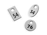 Numerki do szatni - różne kolory - trzy wersje kształtów do wyboru - grubość 3mm w sklepie internetowym Grawernia.pl