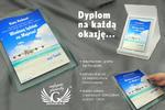 Dyplom miodowy tydzień - kolorowy druk UV - DUV003 w sklepie internetowym Grawernia.pl