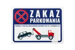 Tabliczka ostrzegawcza zakaz parkowania PVC 3mm - wym. 420x297mm (A3) - druk UV - TOZ001 w sklepie internetowym Grawernia.pl