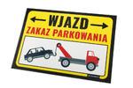 Tabliczka ostrzegawcza zakaz parkowania PVC 3mm - wym. 420x297mm (A3) - druk UV - TOZ002 w sklepie internetowym Grawernia.pl