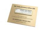 Pierwszy milion - prezent z okazji 18-stki - wym. 200x150mm w sklepie internetowym Grawernia.pl