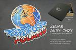 Zegar akrylowy z dowolną grafiką - kolorowy druk UV - ZAK001 w sklepie internetowym Grawernia.pl