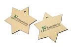 Ozdoby świąteczne - drewniane gwiazdki - kolorowy druk UV - OZD006 w sklepie internetowym Grawernia.pl