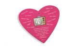 Medal jubileuszowy - Duże Serce - kolorowy druk UV w sklepie internetowym Grawernia.pl