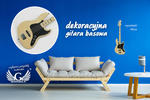 Dekoracyjna gitara basowa - kolorowy druk UV - DEK003 w sklepie internetowym Grawernia.pl