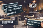 Rezerwacja - stojak z dowolnym napisem - wym. 150x65mm - szroniony akryl - druk UV w sklepie internetowym Grawernia.pl