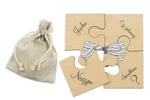 Puzzle - zaproszenia ślubne dla świadków - cyfrowy druk UV - ZAP013 w sklepie internetowym Grawernia.pl