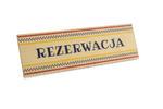 Rezerwacja - drewniane stojaki na stoliki 180x55mm - kolorowy druk UV - REZ008 w sklepie internetowym Grawernia.pl