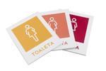 Oznakowanie toalet - Druk UV - PVC 3mm - wym. 90x110mm - TT023 w sklepie internetowym Grawernia.pl