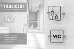 Tabliczki z plexi na toalety - wym. 140x140mm - druk UV - TT027 w sklepie internetowym Grawernia.pl