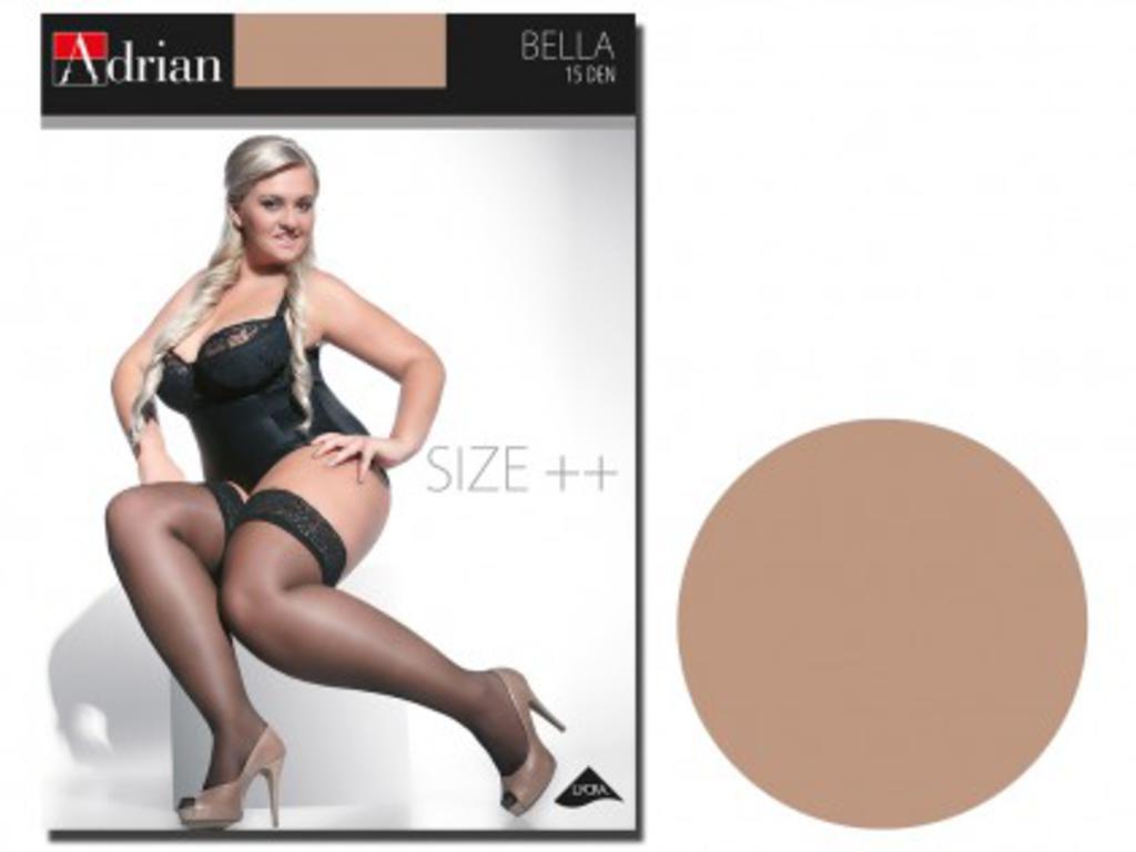 c0aff517be26f4 Pończochy size plus Bella duże rozmiary : Kolor Rajstop / Ponczoch - Natural,  Rozmiar Rajstop. Powiększ zdjęcie