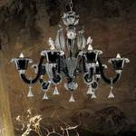 Żyrandol Vintage DUCALE 6L UP biały kryształ - Biały kryształ w sklepie internetowym Kosmiczne Lampy