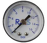 """Manometr reduktora zegar 0-16 bar RQS - 1/8"""" - 1/8"""" w sklepie internetowym Sklep P.H.U. Szczepan"""