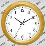 Anty zegar z jasnego drewna #O1 w sklepie internetowym funnyclock.eu