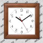 Anty zegar kwadrat drewniany lustro #2 w sklepie internetowym funnyclock.eu