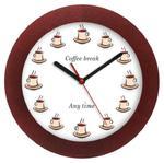 Zegar drewniany solid COFFEE TIME w sklepie internetowym funnyclock.eu