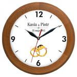 Zegar pamiątka ślubu drewniany II w sklepie internetowym funnyclock.eu