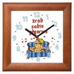 """Zegar """"Zrób przerwę"""" drewniany w sklepie internetowym funnyclock.eu"""