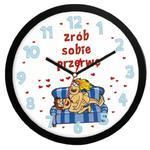 """Zegar """"Zrób sobie przerwę"""" solid w sklepie internetowym funnyclock.eu"""