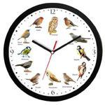 Zegar ścienny czarny z głosami 12 ptaków #2 w sklepie internetowym funnyclock.eu