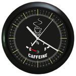 Zegar naścienny czarny COFFEE TIME w sklepie internetowym funnyclock.eu